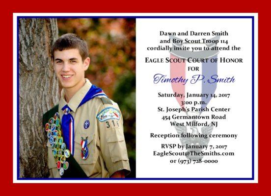 Simple Honors 2 (Border)-Eagle Scout Invitation