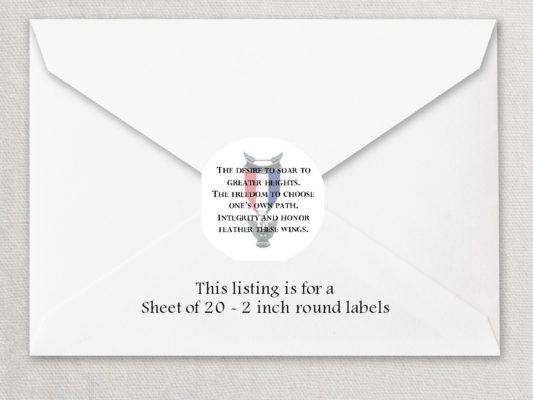 "Eagle Scout 1 2"" Round Envelope Seals"