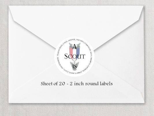 """Eagle Scout 4 2"""" Rounded Envelope Seals"""