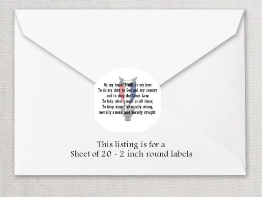 """Eagle Scout 5 2"""" Rounded Envelope Seals"""