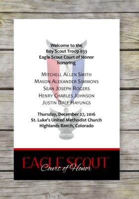 Achieve-Black Eagle Scout Court of Honor Program