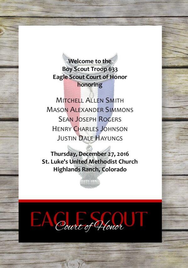 Achieve-Black Eagle Scout Court of Honor Program