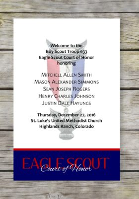 Achieve-Blue Eagle Scout Court of Honor Program