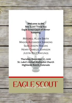 Achieve-Khaki Eagle Scout Court of Honor Program