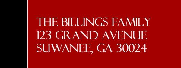 Believe Black/Red Eagle Scout Return Address Labels