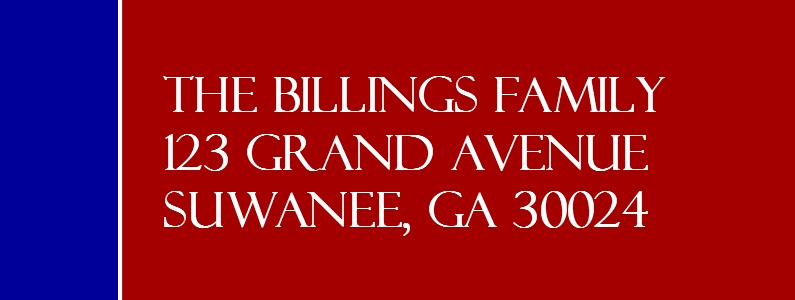 Believe Blue/Red Eagle Scout Return Address Labels