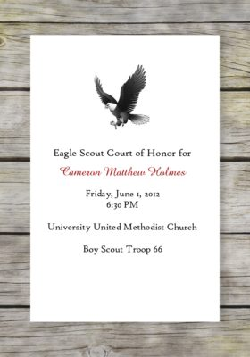 Classic Scout Eagle Scout Court of Honor Program