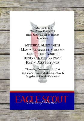 Commitment-Blue Eagle Scout Court of Honor Program