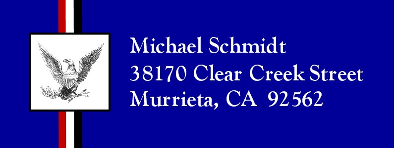 Honored Scout Blue Eagle Scout Return Address Labels