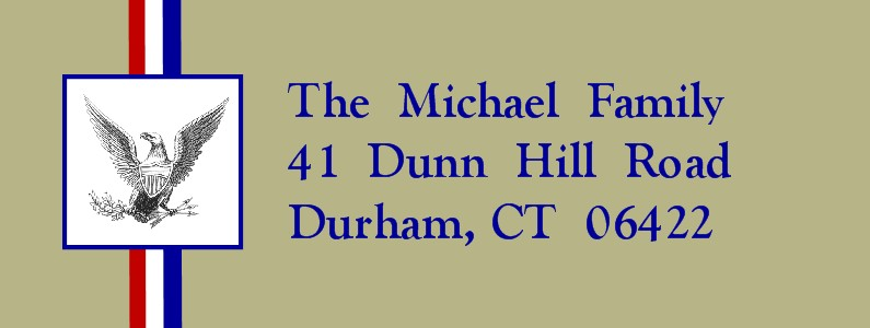 Honored Scout Khaki Eagle Scout Return Address Labels