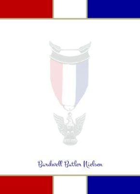 Prepared Eagle Scout Flat Note Cards