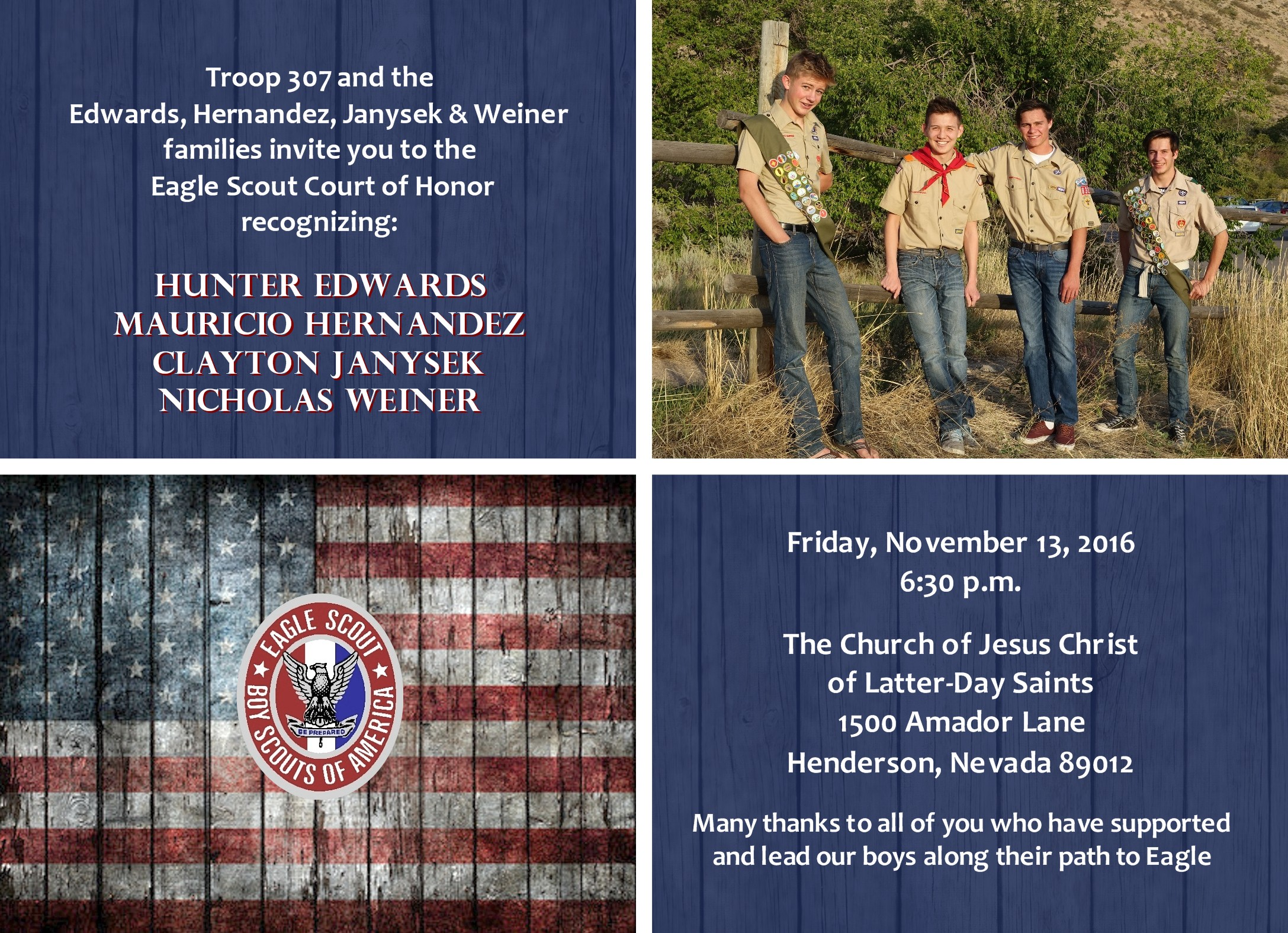 Updated Rustic Eagle 3 Eagle Scout Invitation