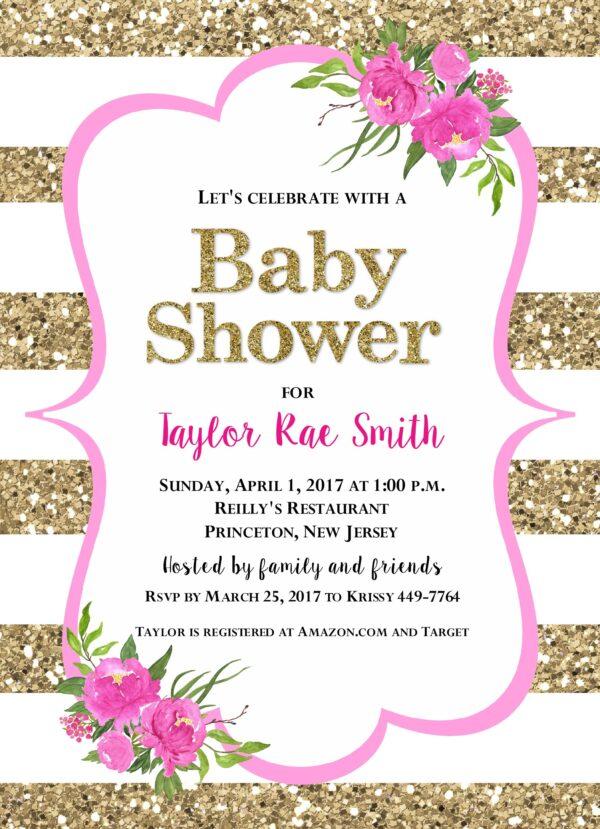 1 peony baby shower