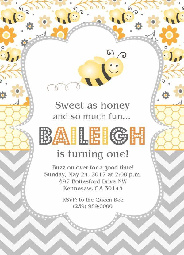 Bumble Bee Party Birthday Invitation