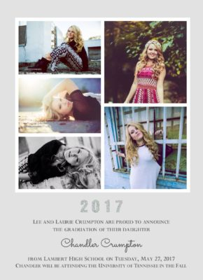 Shining Style (Grey) Graduation Announcement