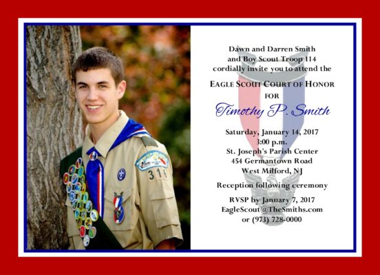 Product categories eagle scout court of honor invitations for Eagle scout court of honor program template