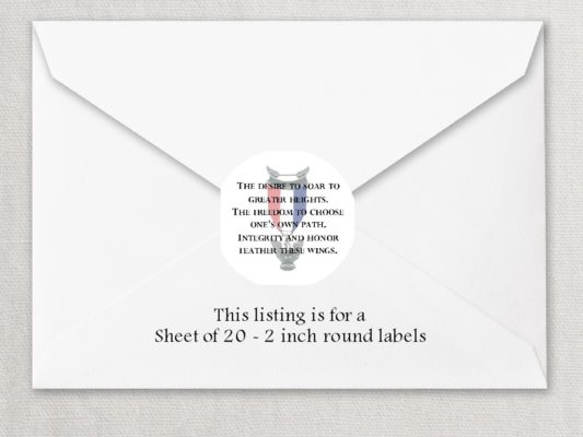 "Eagle Scout 1 2"" Round Envelope Seals"