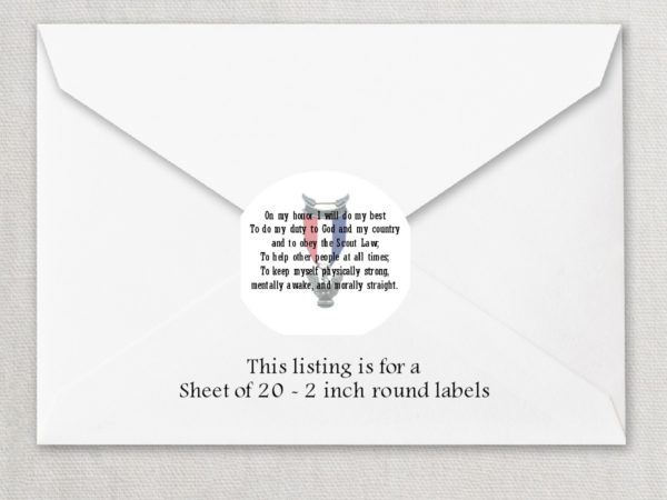 "Eagle Scout 5 2"" Rounded Envelope Seals"