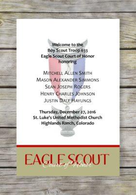 Achieve-Khaki Eagle Scout Court of Honor Program