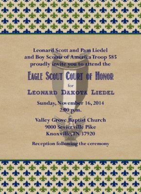 Courteous Eagle Scout Invitation