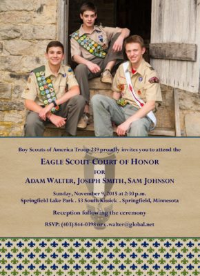 Courteous Group Eagle Scout Invitation