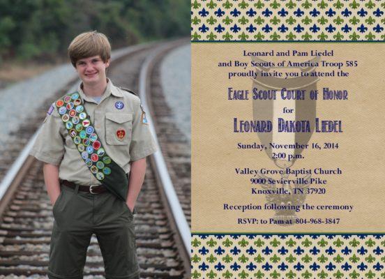 Courteous Photo Eagle Scout Invitation