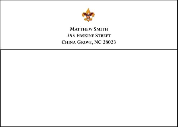 #1 Return Address Printed on Back Flap of Outside Envelopes