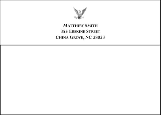 #4 Return Address Printed on Back Flap of Outside Envelopes