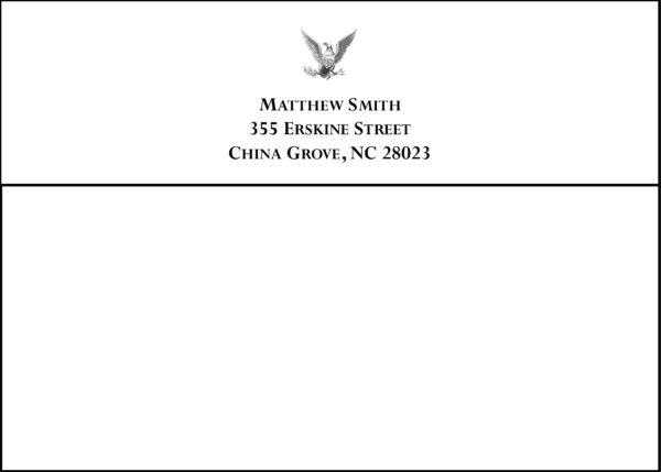 #4 Return Address Printed on Back Flap of Outside Envelopes