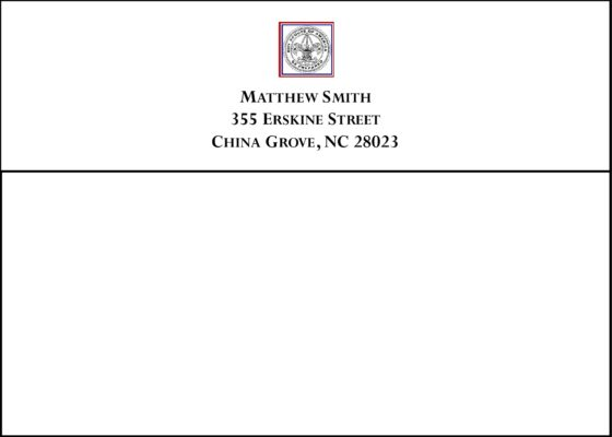 #5 Return Address Printed on Back Flap of Outside Envelopes