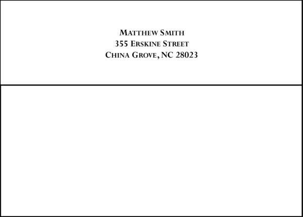 #6 Return Address Printed on Back Flap of Outside Envelopes