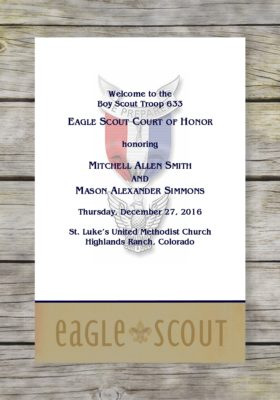 Helpful Eagle Scout Court of Honor Program