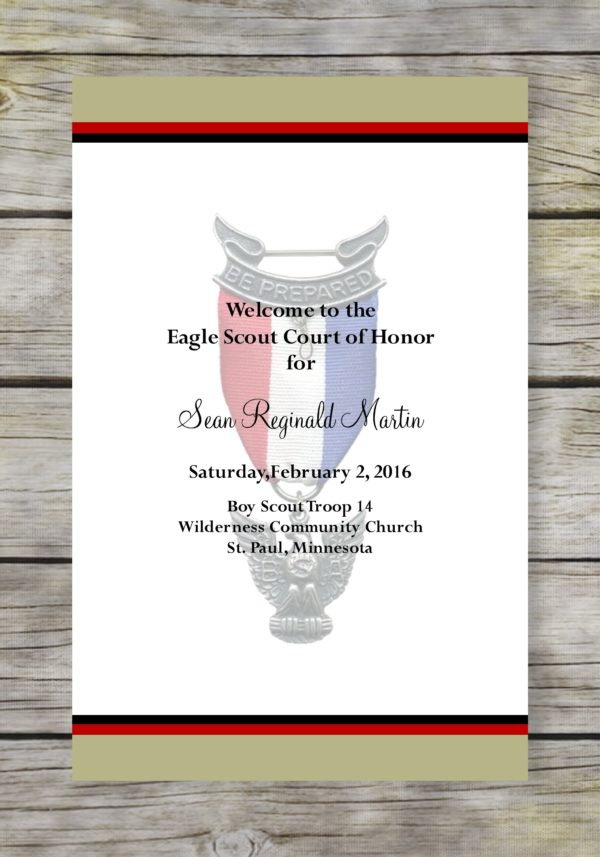 Honorable-Khaki Eagle Scout Court of Honor Program