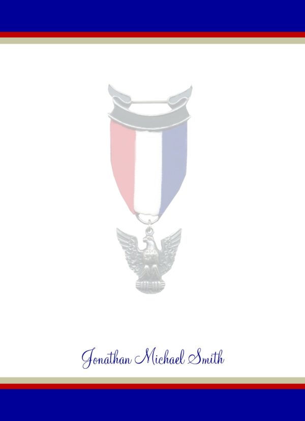 Honorable Blue Eagle Scout Flat Note Cards