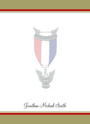 Honorable Khaki Eagle Scout Flat Note Cards