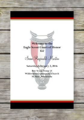 Honorable-Black Eagle Scout Court of Honor Program