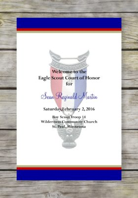 Honorable-Blue Eagle Scout Court of Honor Program