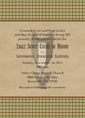 Loyalty Eagle Scout Invitation