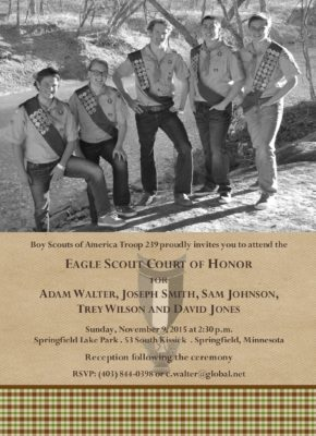 Loyalty Group Eagle Scout Invitation