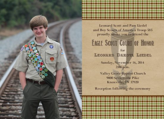 Loyalty Photo Eagle Scout Invitation