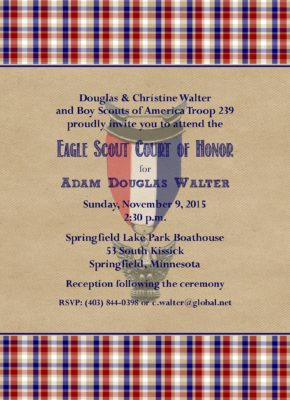 Memories 1 Eagle Scout Invitation