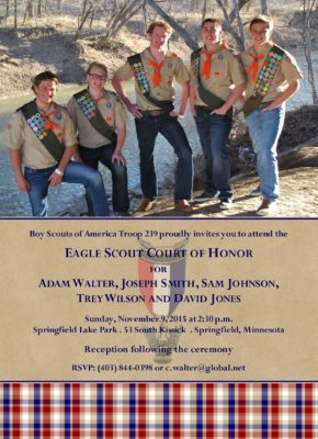 Memories 1 Group Eagle Scout Invitation