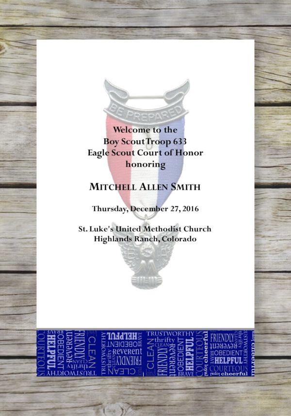 Opportunity-Blue Eagle Scout Court of Honor Program