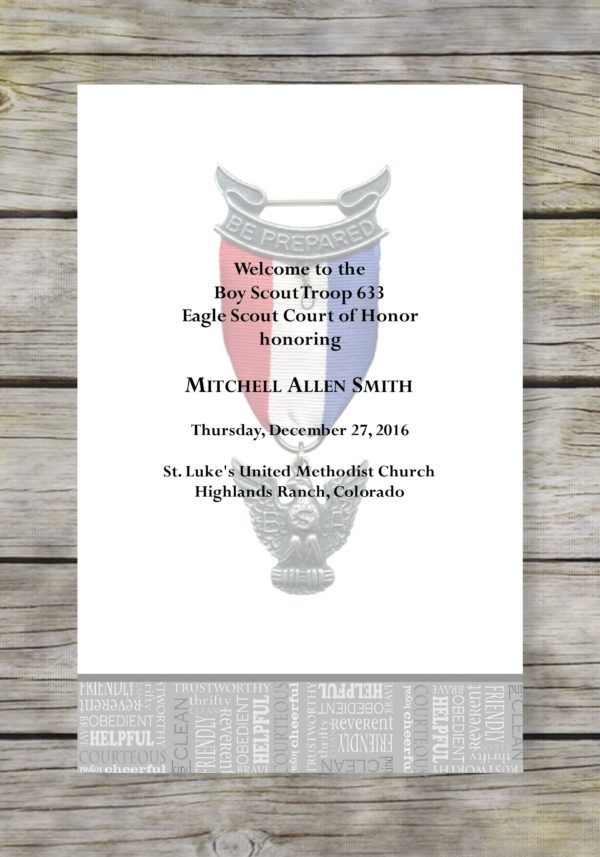 Opportunity-Grey Eagle Scout Court of Honor Program