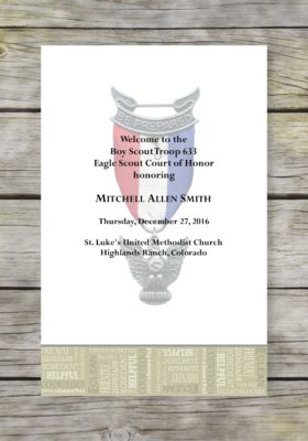 Opportunity-Khaki Eagle Scout Court of Honor Program