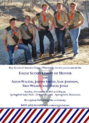Patriotic Group Eagle Scout Invitation
