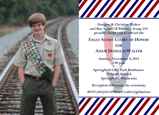 Patriotic Photo Eagle Scout Invitation
