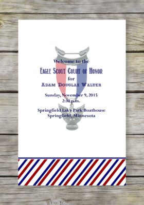 Patriotic Eagle Scout Court of Honor Program
