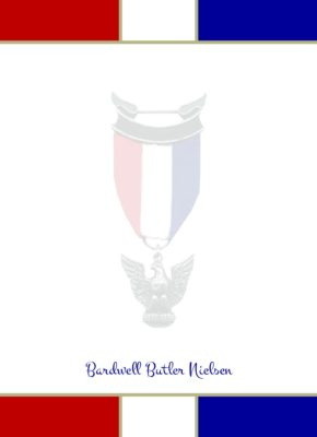 Prepared Eagle Scout Flat Note Cards