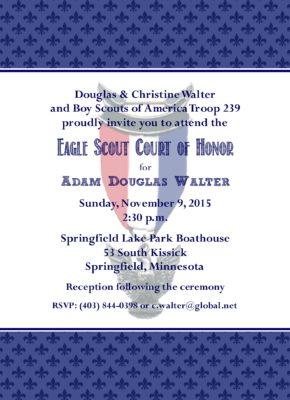 Proud Eagle Scout Invitation